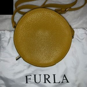Furla Bags - Furla Yellow Leather Mini Perla Round Crossbody